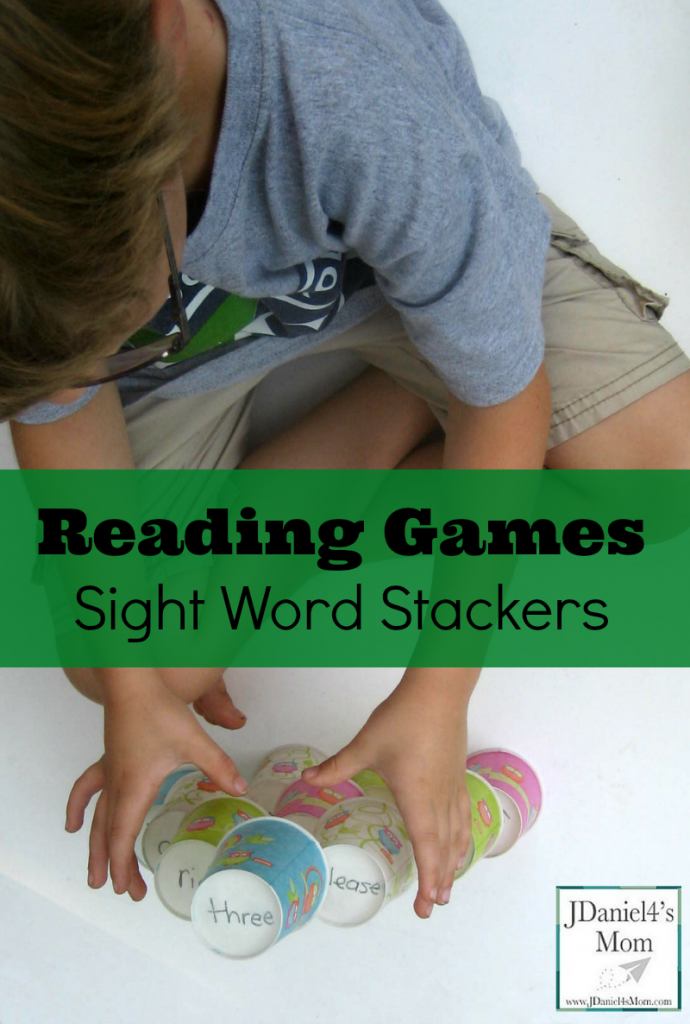 Reading Games- Sight Word Stackers