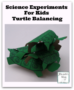 Science Experiments for Kids- Turtle Balancing
