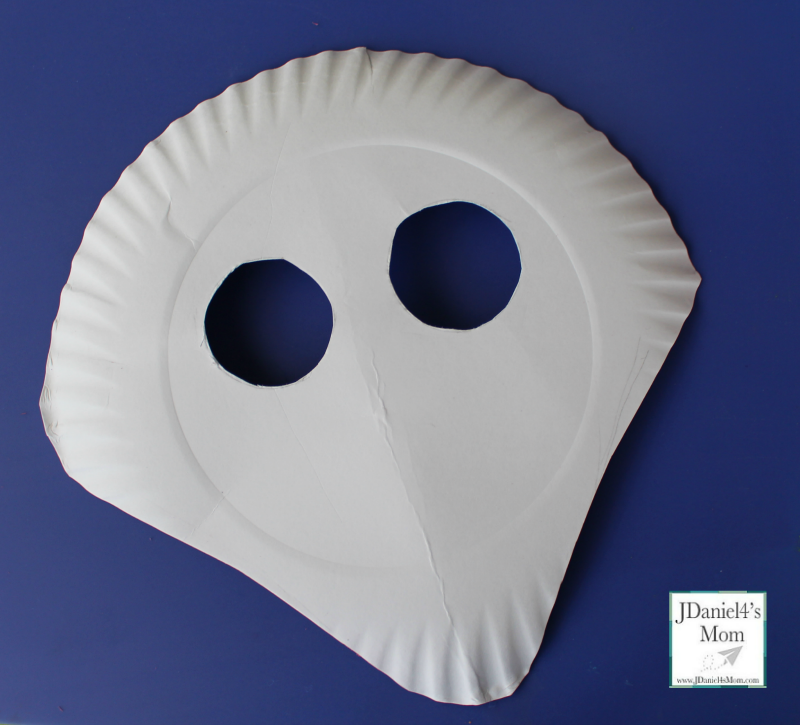 Paper Plate Shark Mask and Mask Template