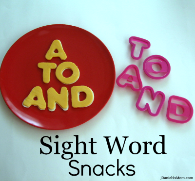 Sight Word Snacks