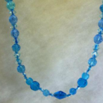 Blue Waters and Ice necklace by SharonK1420 Giveaway