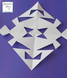 Snowflake patterns can easily be created with blocks. What a fun way to explore shapes!