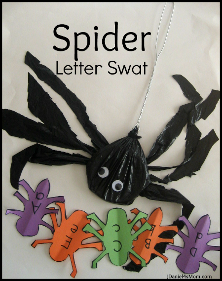 Spider Swat Alphabet Activity