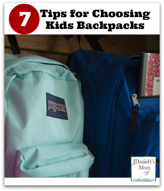 Tips for choosing kids backpacks