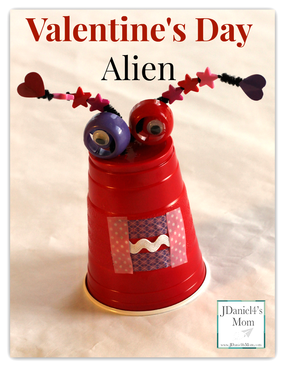 Solo Cup Valentine's Day Alien