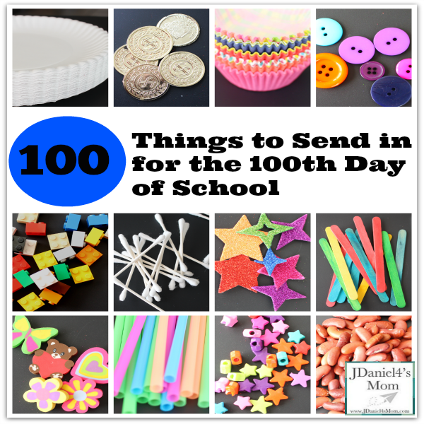 100 Things to Send in for the 100th Day of School Facebook