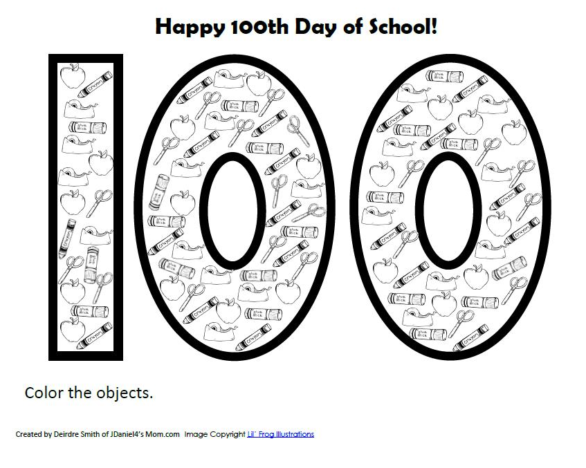 100th Day Of School Printable. 100th Day Of School. Worksheet. 100th Day Worksheets At Clickcart.co