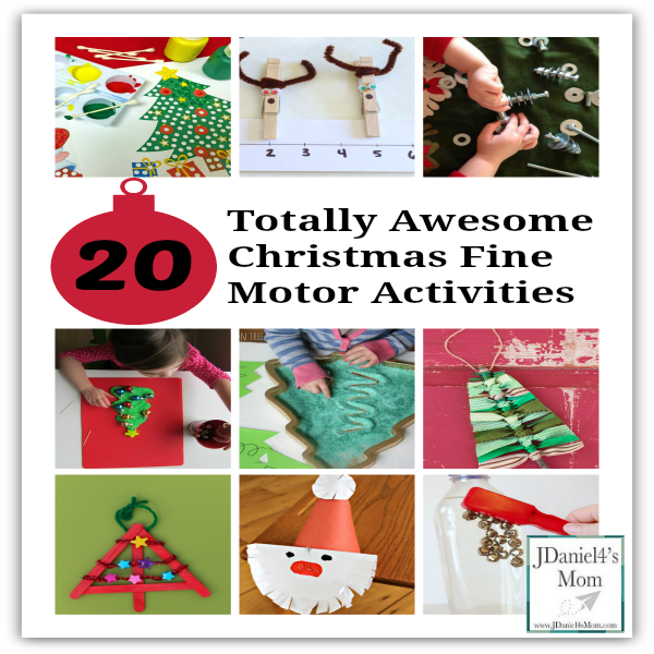 20 Totally Awesome Christmas Fine Motor Activities- These activities will have kids learning, creating, and exploring while using their fine motor skills. Facebook