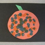 Pumpkin Craft Using Bingo Markers