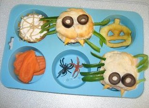 Muffin Tin Muffin Spiders