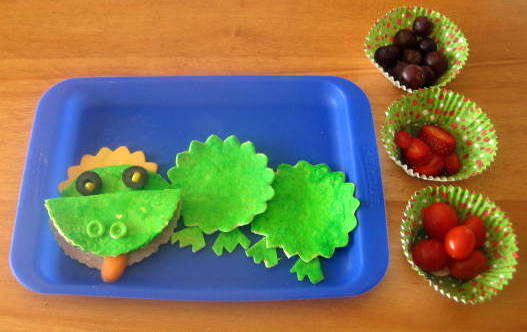 Chinese Dragon Muffin Tin Lunch for Kids