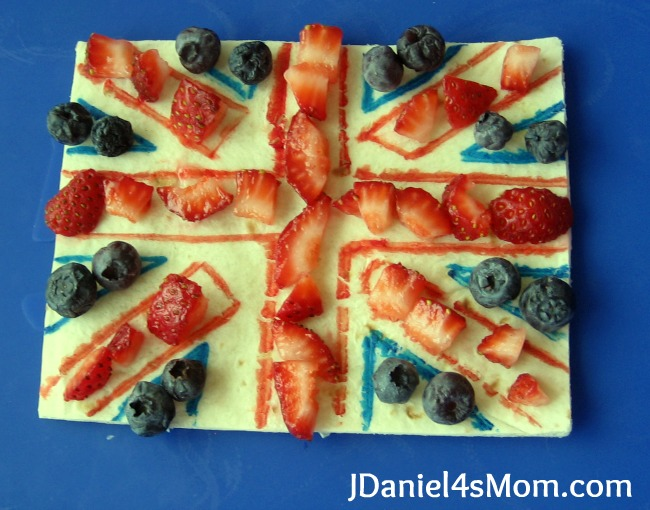 Olympics for Kids- Edible British Flag