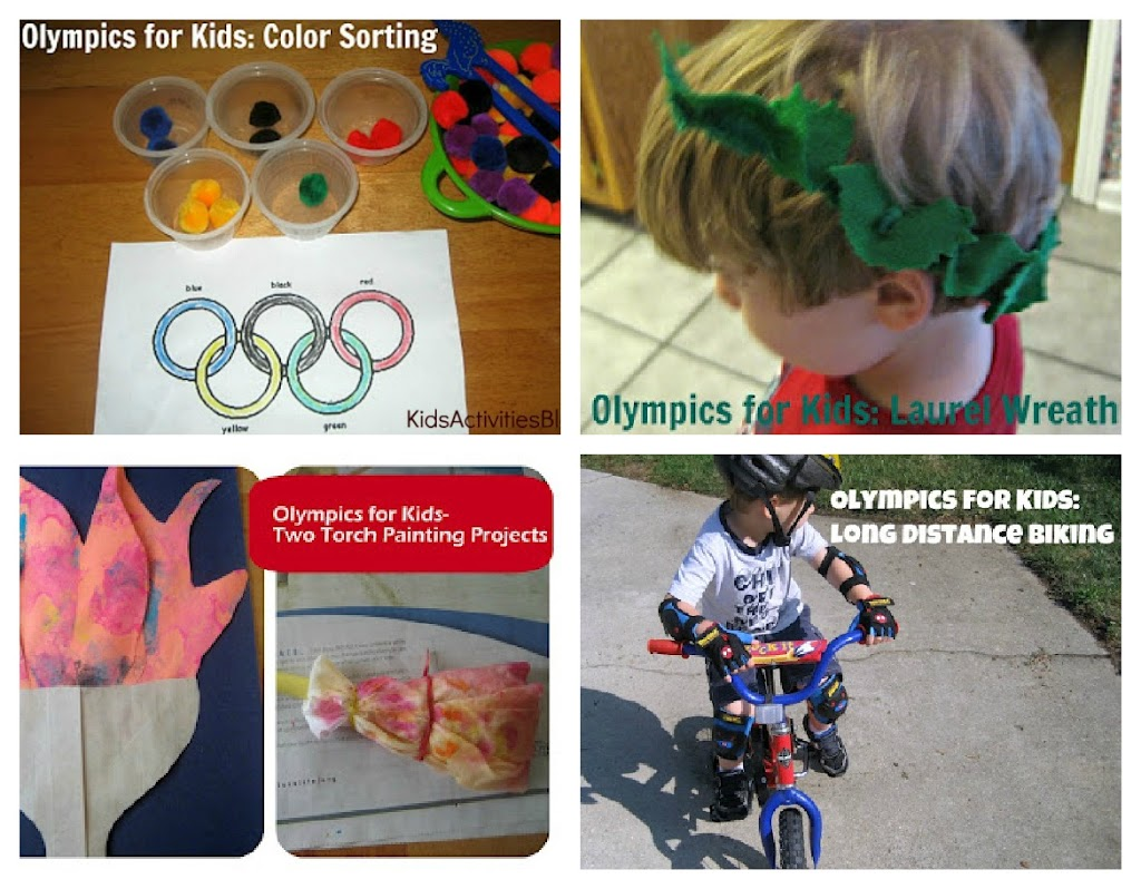 Olympics for Kids- 12 Olympic Related Activities and Meals