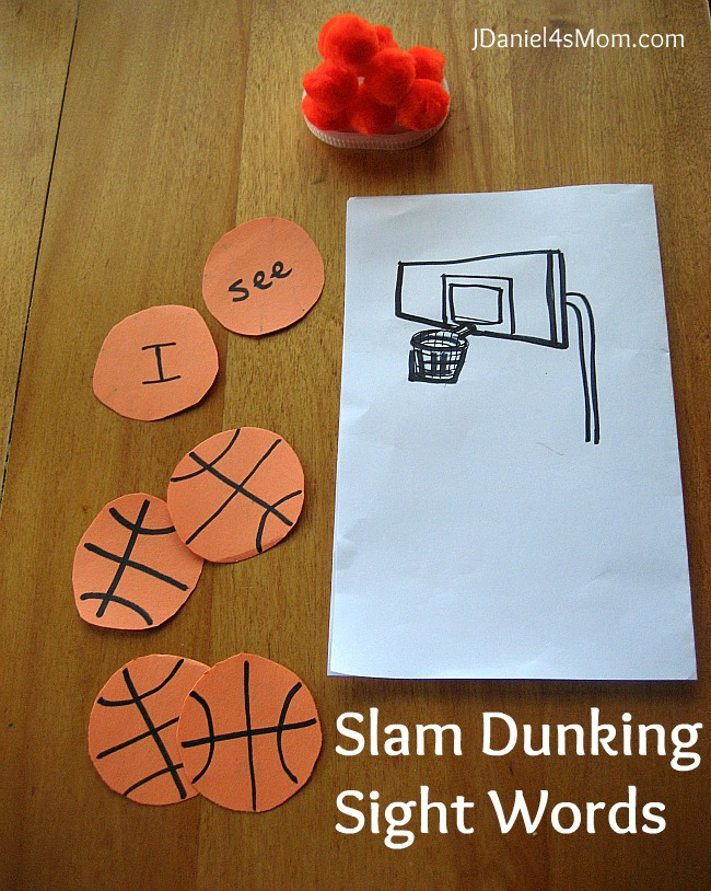 Sight Word Practice- Dunking Sight Words