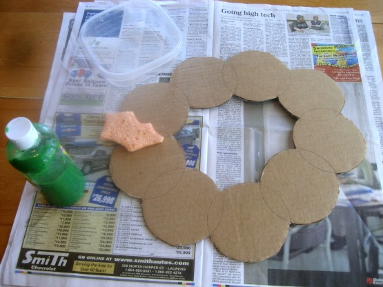 Holiday Hop for Goodies- Cardboard Advent Wreath