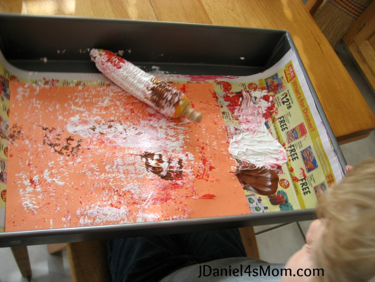 12 Top Montessori Activities 2012 - Corn Cob Painting