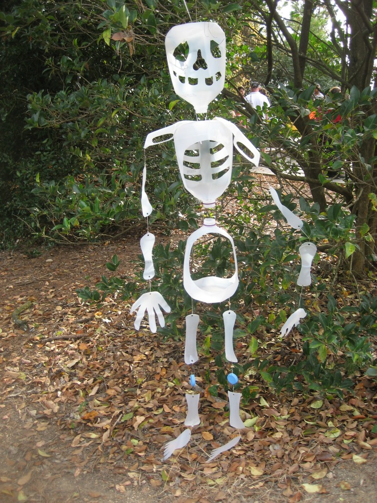 Halloween Craft- Milk Jug Skeleton
