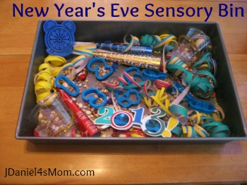 New Year's Eve Sensory Bin