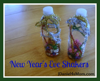 New Year's Eve Craft- Noise Maker Shakers
