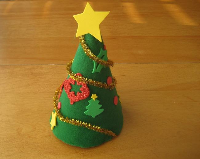 Birthday Hat Christmas Tree Craft for Kids
