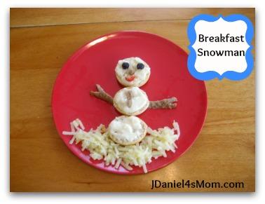 Breakfast Foods- Snowman Meal