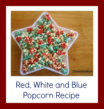 Recipe- Red, White and Blue Popcorn