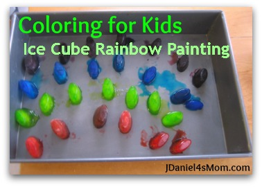 Coloring for Kids - Ice Cube Painting