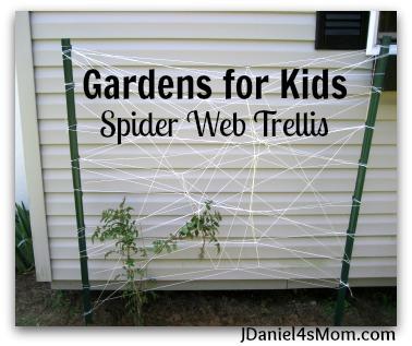 Gardens for Kids- Spider Web Trelling