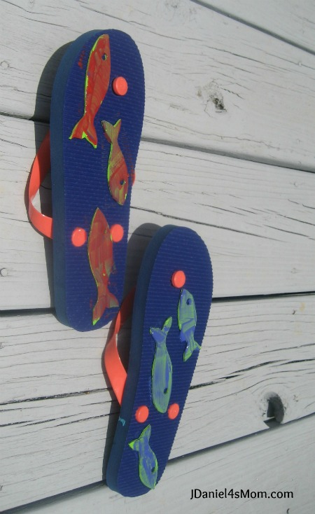 Summer Crafts - Fish Flop Painting
