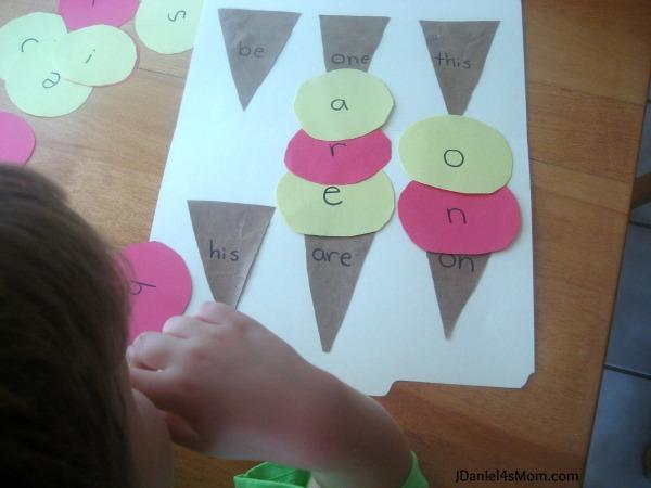 Preschool Activities- Ice Cream Games