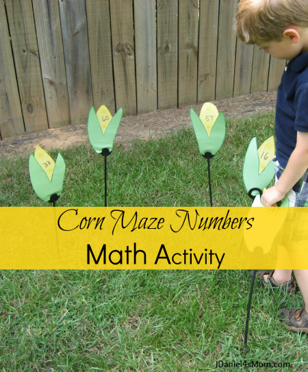 Corn Maze Numbers Math Activity