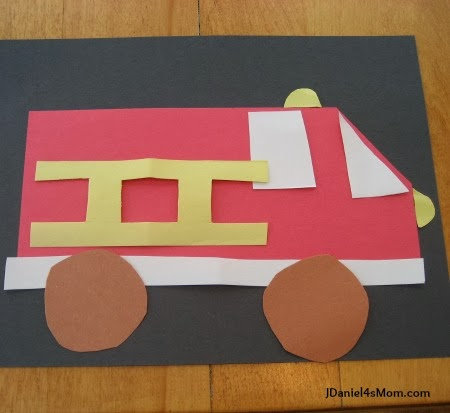 Fire Truck Craft - Completed