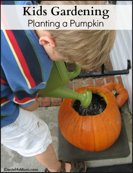 Kids Gardening - Planting a Pumpkin's Seeds in a Pumpkin