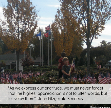 I Am Grateful for Family {21 Days of Gratitude Challenge} - Veteran's Day Quote