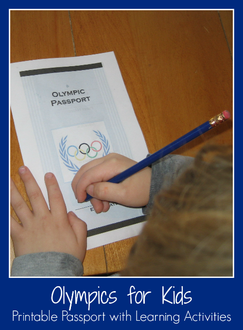 Olympics for Kids- Printable Passport with Learning Activities