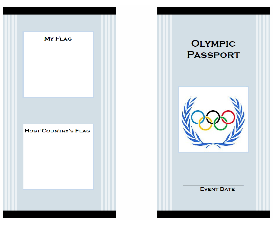 photograph relating to Passport Printable named Olympics for Children: Printable Pport with Finding out Things to do