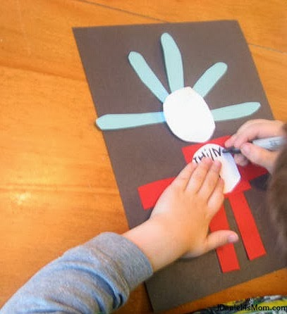 Assembling the Dr. Seuss Shape Activity Featuring Thing One and Thing Two