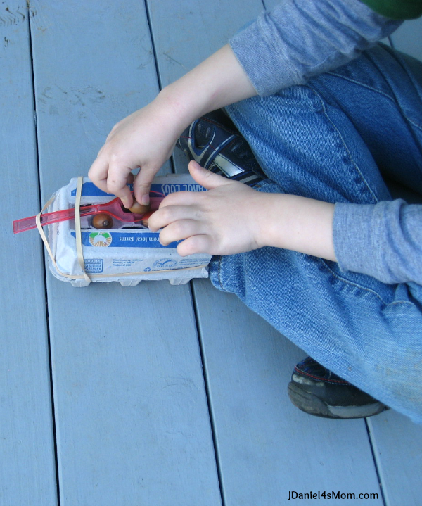 Kids Science Egg Carton Catapult - This great for exploring how catapults work.