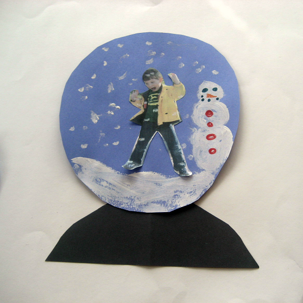 Snow Globe Craft for Kids - Mother and Son Themed Globes - My son's snow globe.