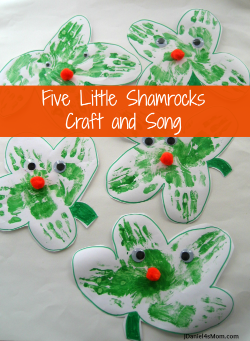 Five Little Shamrock Craft and Song