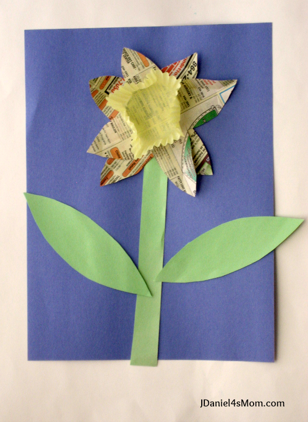 Spring Craft- Recycled Daffodil