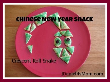 Crescent Roll Snake for Chinese New Year