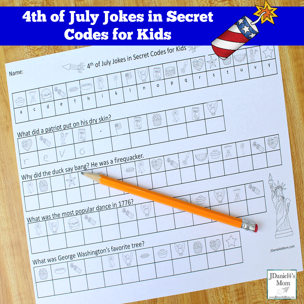 4th of July Jokes in Secret Codes for Kids