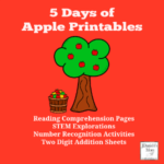 5 Days of Apple Printables- Math, Reading and STEM Science Activities