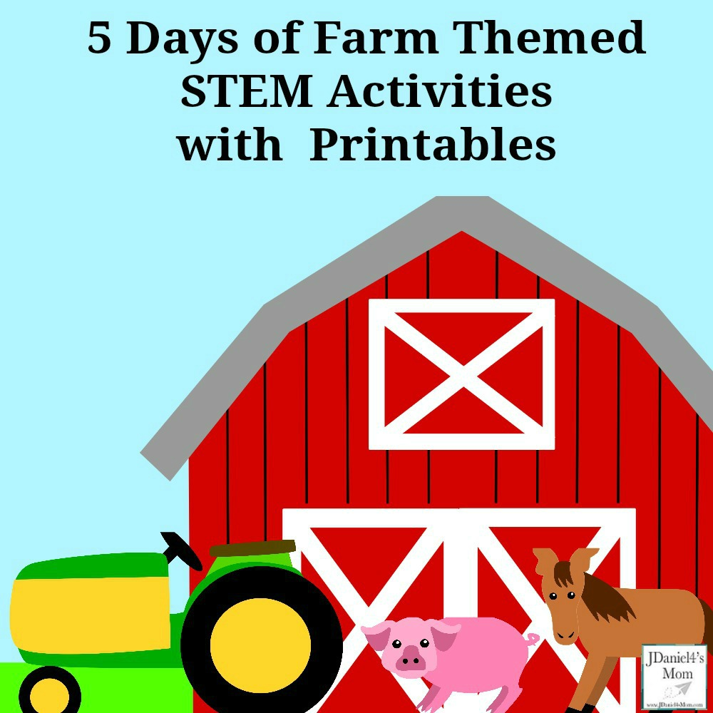 5 Days of Farm Themed STEM Activities with Printables