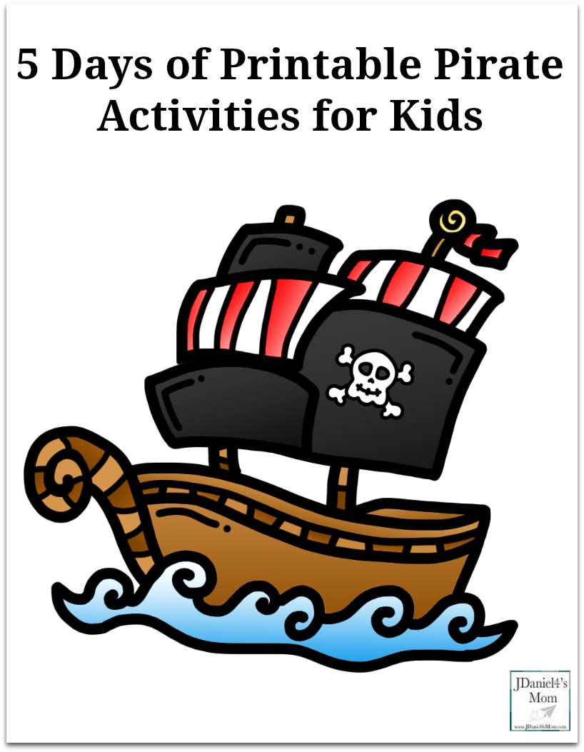 photograph about Pirates Printable Schedule titled 5 Times of Printable Pirate Pursuits for Small children