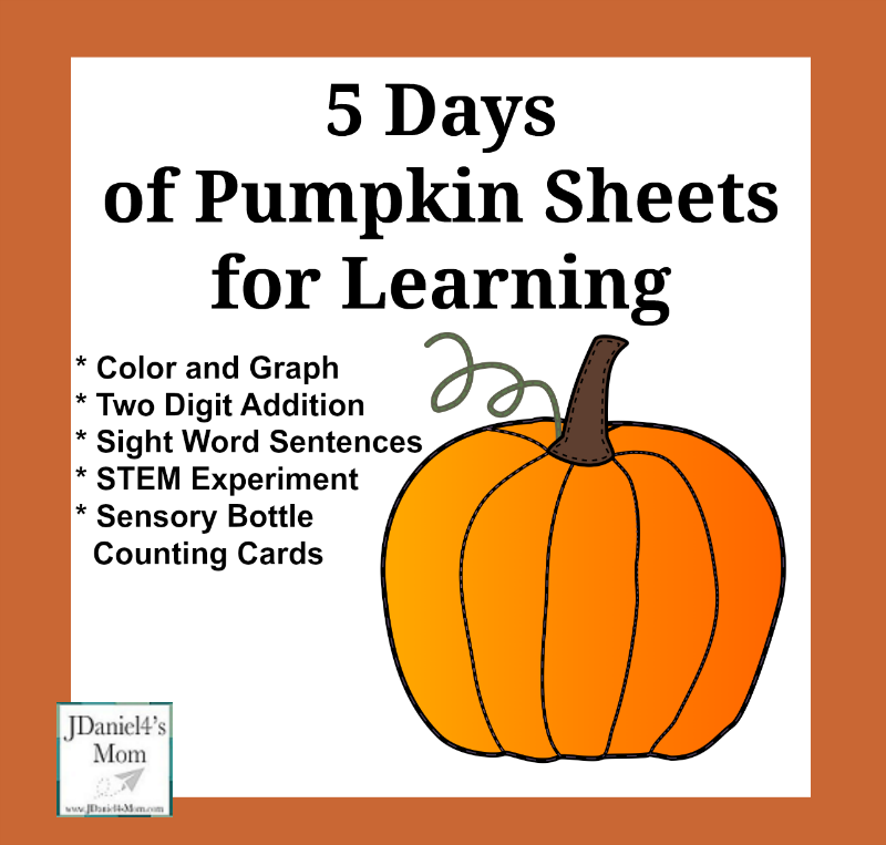 5 Days of Pumpkin Sheet for Learning