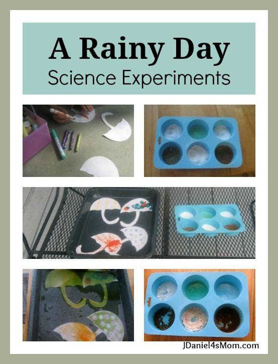 A Rainy Day: Science Experiments