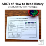 ABC's of How to Read Binary STEM Activity with Printable