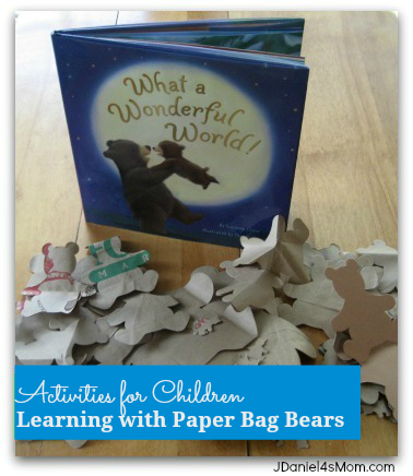 Activities with Children Learning with Paper Bag Bears